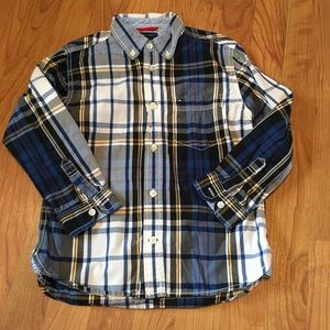 Tommy Button Down Plaid Shirt
